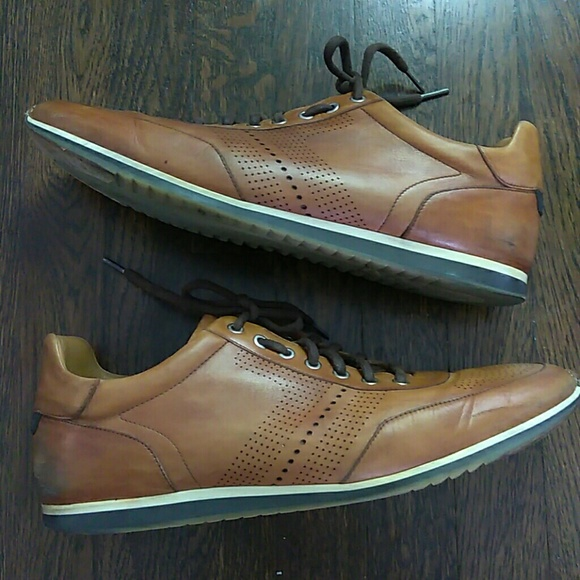Magnanni Pueblo Leather Cognac Sneakers
